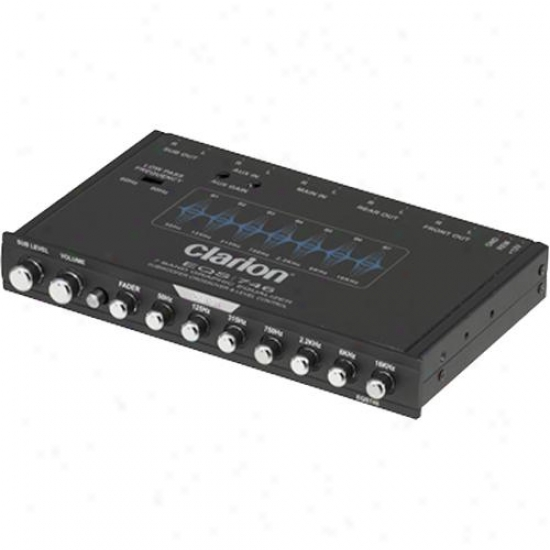 Clarion Eqs746 1/2-din Graphic Equalizer & Crossover For Car Stereos