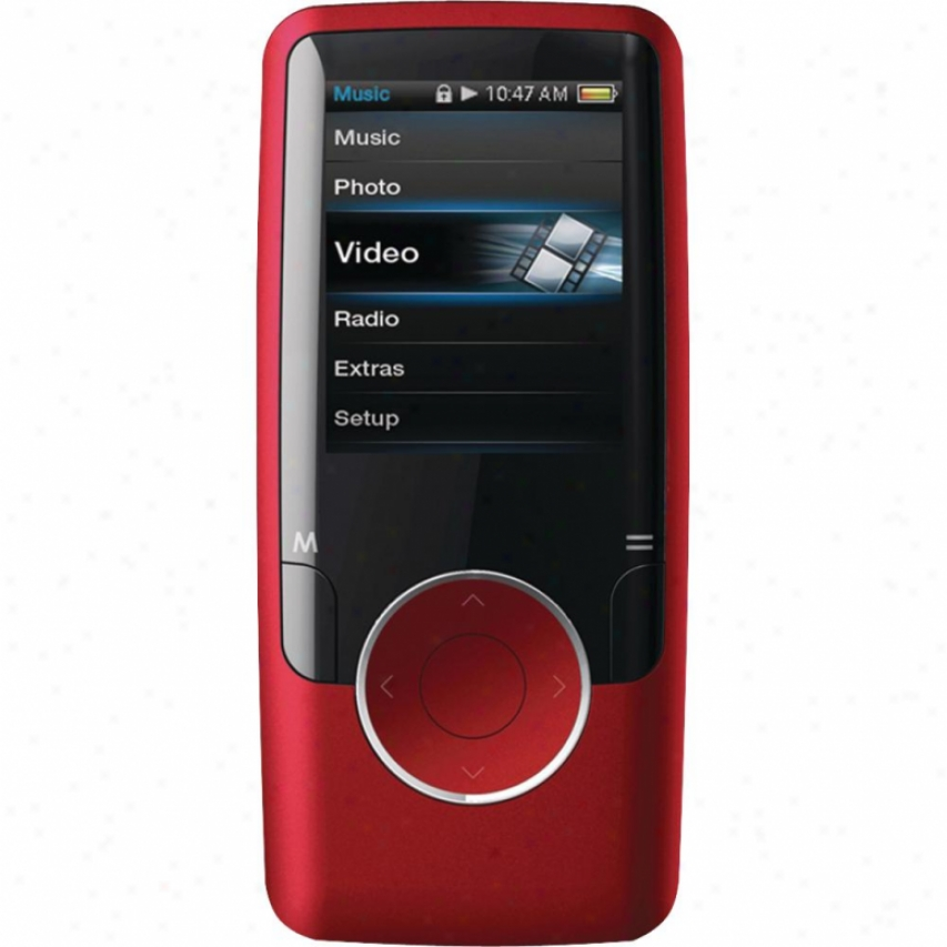 "Coby 1.8"" Video Mp3 Player 4gb Red"