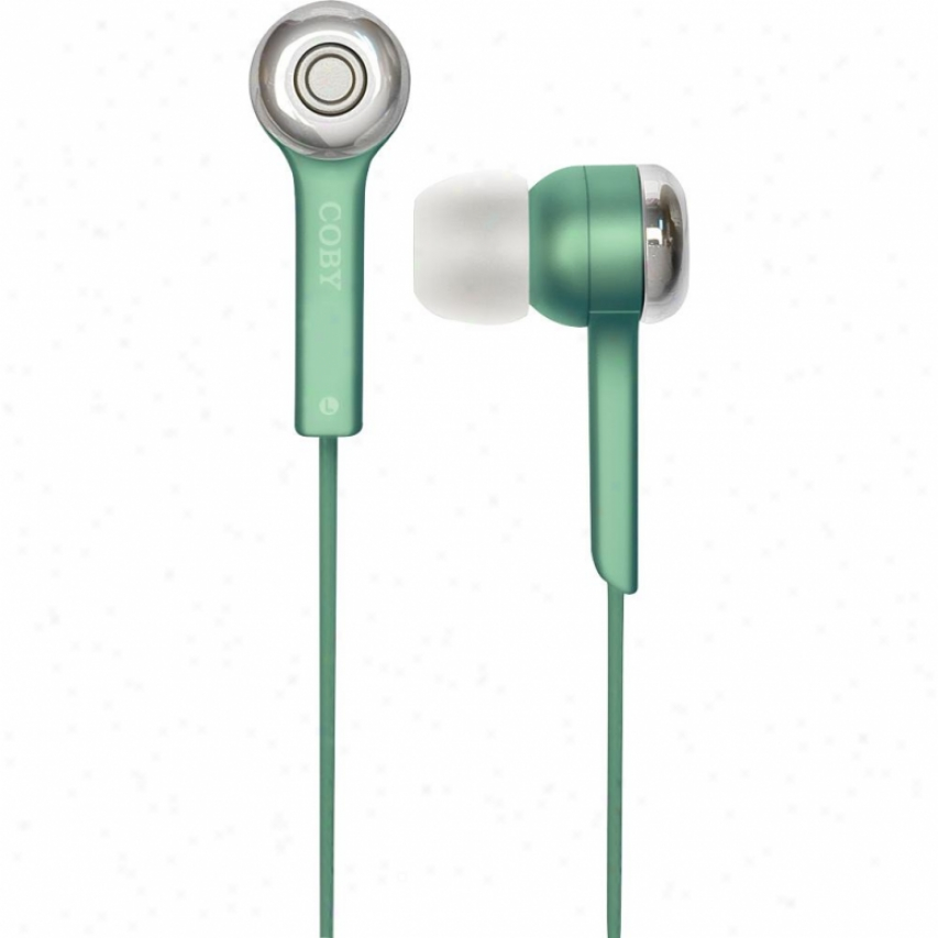 Coby Cve52-grn Jammerz Isolation Stereo Earphones - Green