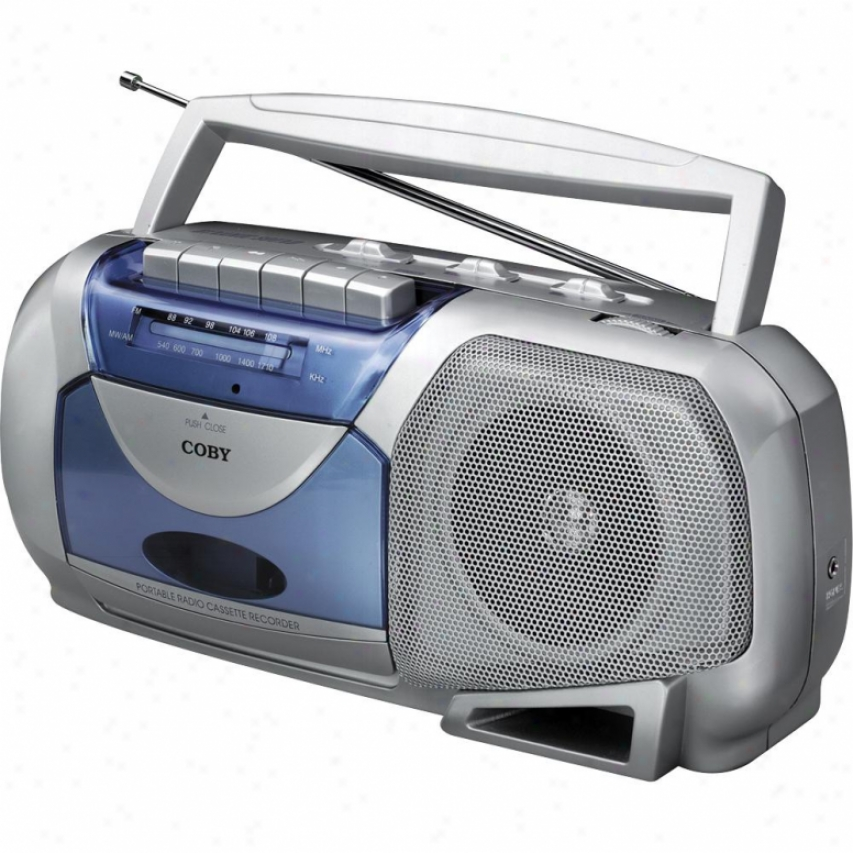 Coby Cx-144 Portable Am/fm Cassette Player/recorder