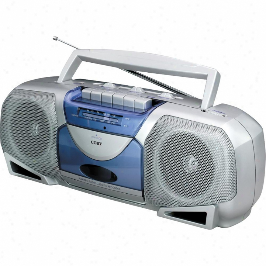 Coby Cx244 Movable Stereo Radio & Cassette Recorder