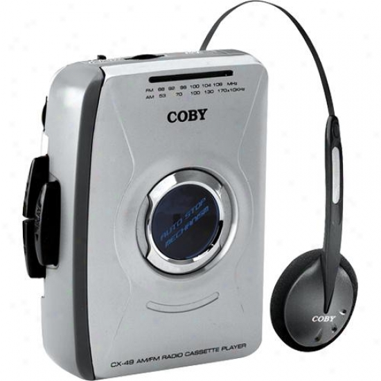 Coby Cx49 Portable Cassette Tape Player With Am/fm Radio