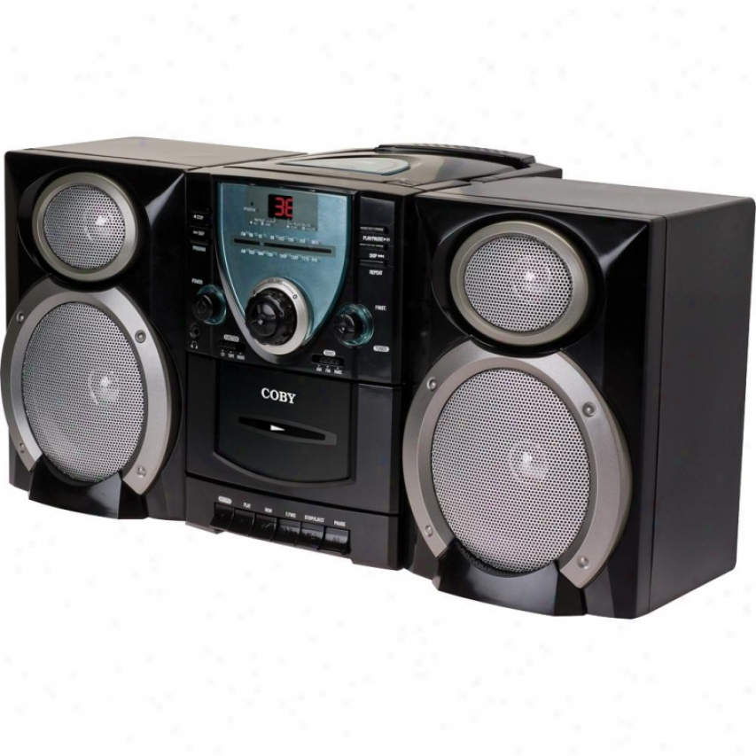 Coby Cxcd400 Mini Hi-fi Cd/stereo Cassette Player/recorder W/ Am/fm Tuner