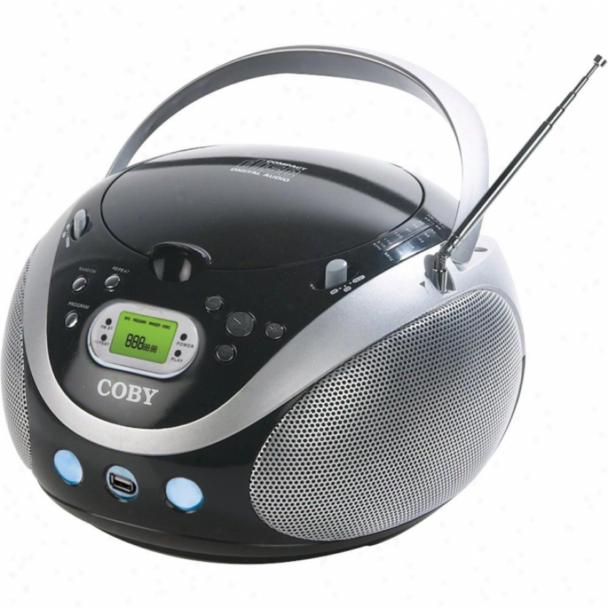 Coby Mpcd471 Portable Mp3/cd Stereo With Am/fm Radio And Usb Port