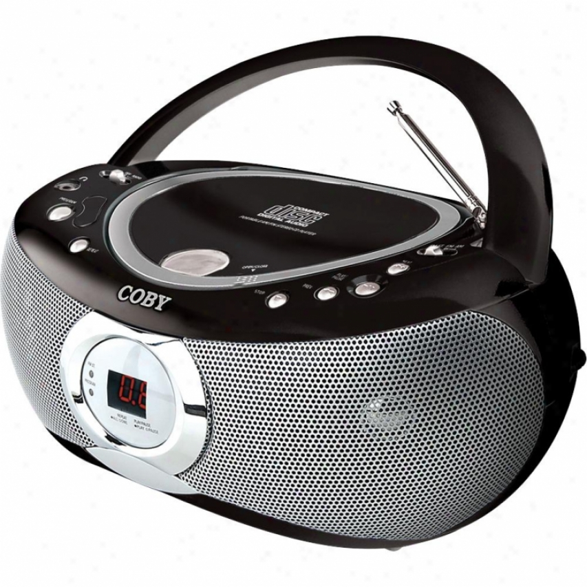 Coby Portable Cd Player Am/fm Black