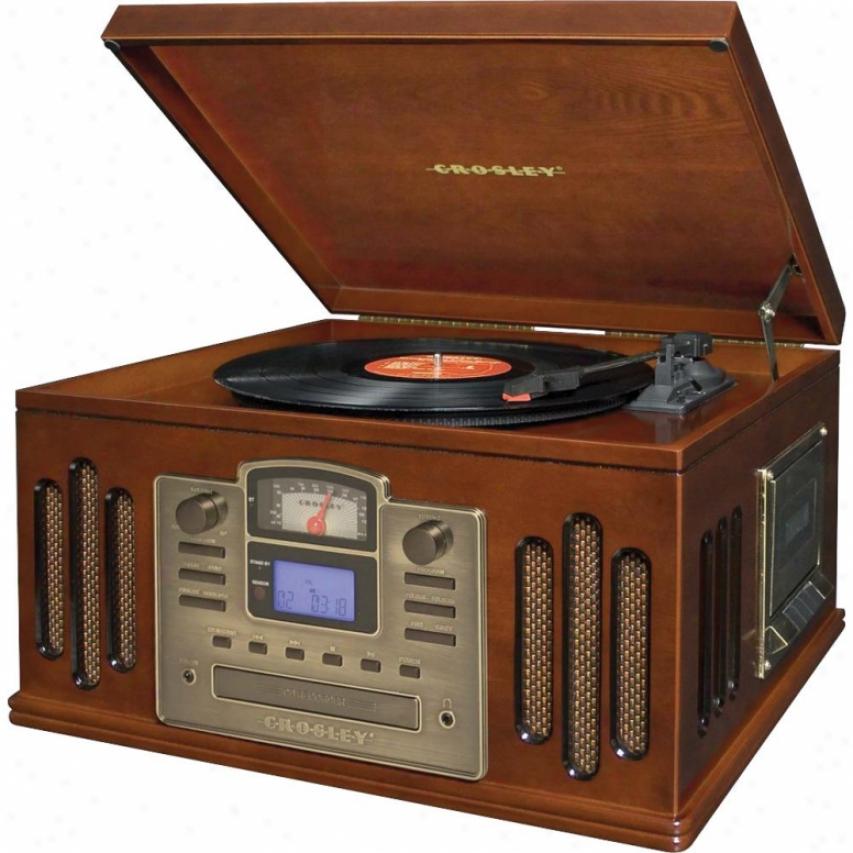 Crosley Corp. Music Writer Cd Recorder Turntable - Paprika