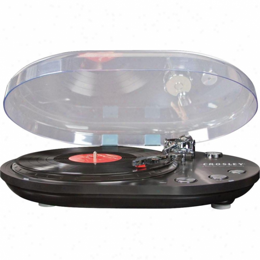 Crosley Corp. Oval Usb Turntable Black