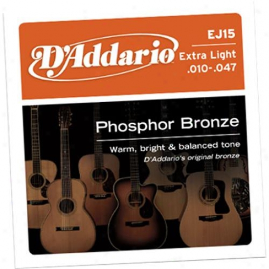 D'addario Ej15-3d 3-pack Extra Kindle 10-47 Acoustic Guitar Strings