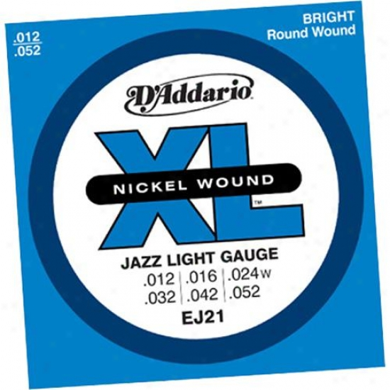 D'addario Ej21 Jazz Light 12-52 - Electric Guitar Strings