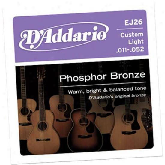 D'addario Ej26 Form Light 11-52 Acoustic Guitar Strings