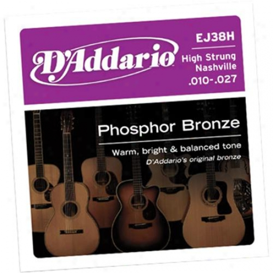 D'addario Ej38h High Strung Nashville Tuning 10-27 Acoustic Guitar Strings