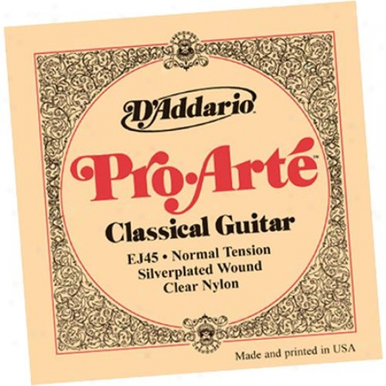 D'addario Ej45-3d Pro-arte Normal Tension Classical Guitar Strings 3 Pack
