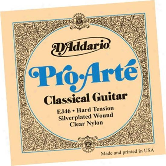 D'addario Ej46-3d Pro-arte Hard Tension Classical Guitar Strings 3 Pack