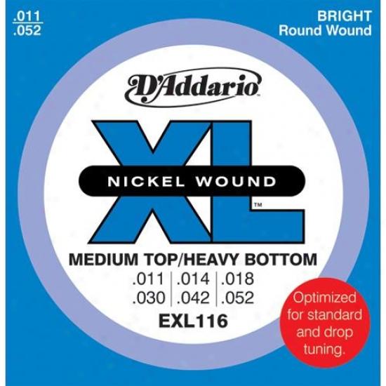 D'addario Exl116 Set Medium Top / Heavy Bottom 11-52