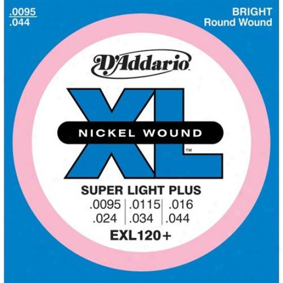 D'addario Exl120+ Super Light Nkckel Electric Guitar Strings
