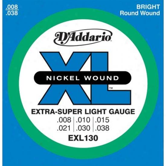D'addario Exl130 Set Extra Super Light 8-38