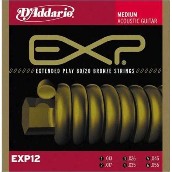 D'addario Exp12 80/20 Bronze 13-56 Medium Acoustic Guitar Strings