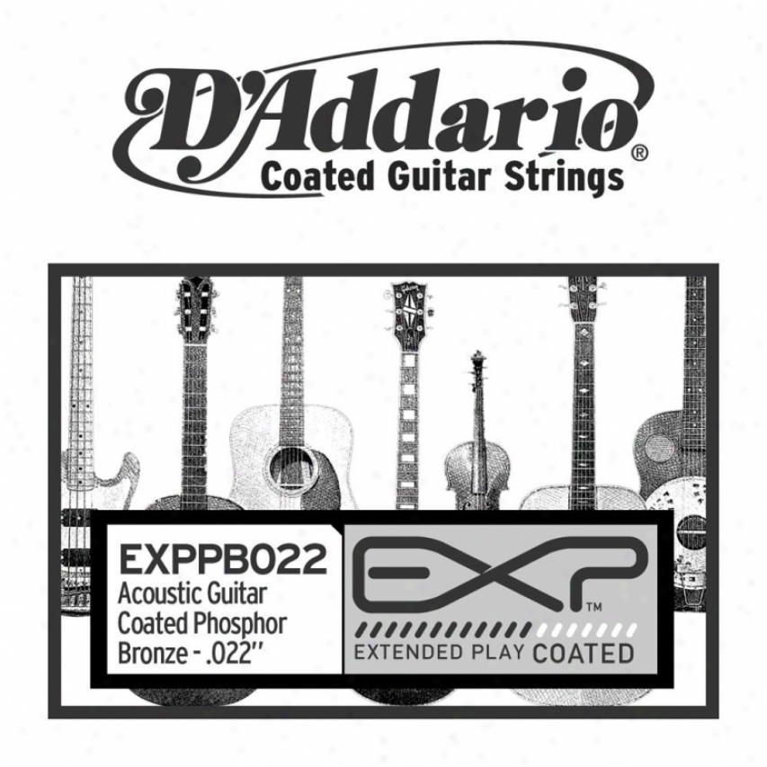 D'addario Exppb022 Sincere Exxp Coated Phosphor Bronze Wojnd 022