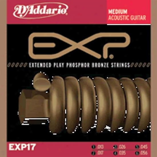 D'addaruo Extended Play Phosphur Bronze Acoustic Guitar Strings Exp17 - Medium