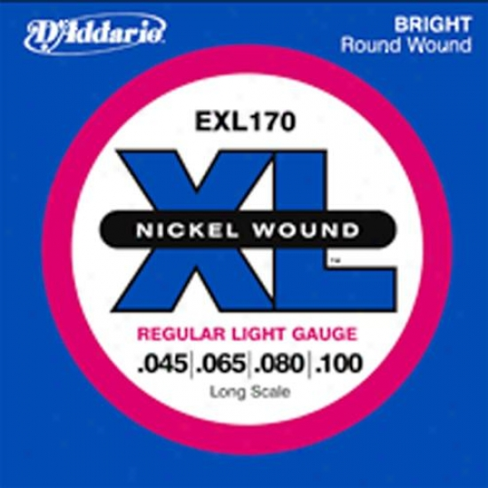 D'addario Nickel Hurt Electric Bass String Set Exl170 - Regular Frivolous