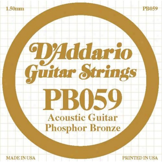 D&#039;addario Pb039 Single Phosphor Bronze Wound - 039