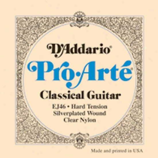 D'addario Pro-arte Classical Guitar Strings - Hard Twnsion Ej46