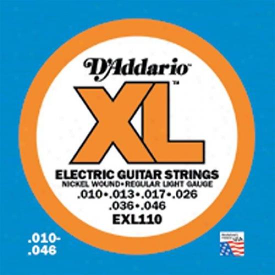 D&039;addario Xl Electric Guitar Strings Nickel Wound Regular Light Gauge Exl110