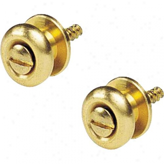 D'andrea Ep2g Guitar Strap Button Pair - Gold