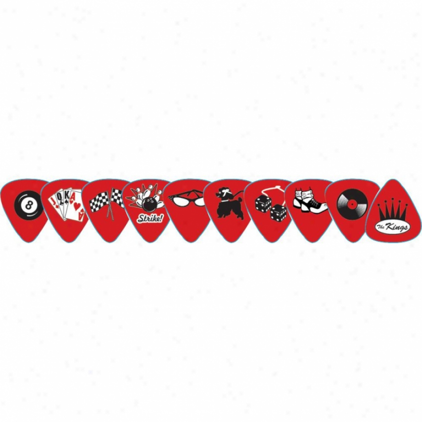 D'andrea Rockabilly Rotary Picks Pack - Medium - Rprkm