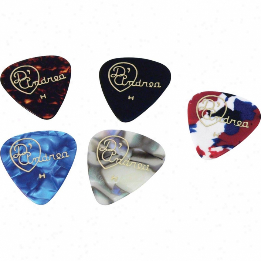 D'andrea Tnvch Heavy Classic Celluloid Guitat Picks - 12 Pack
