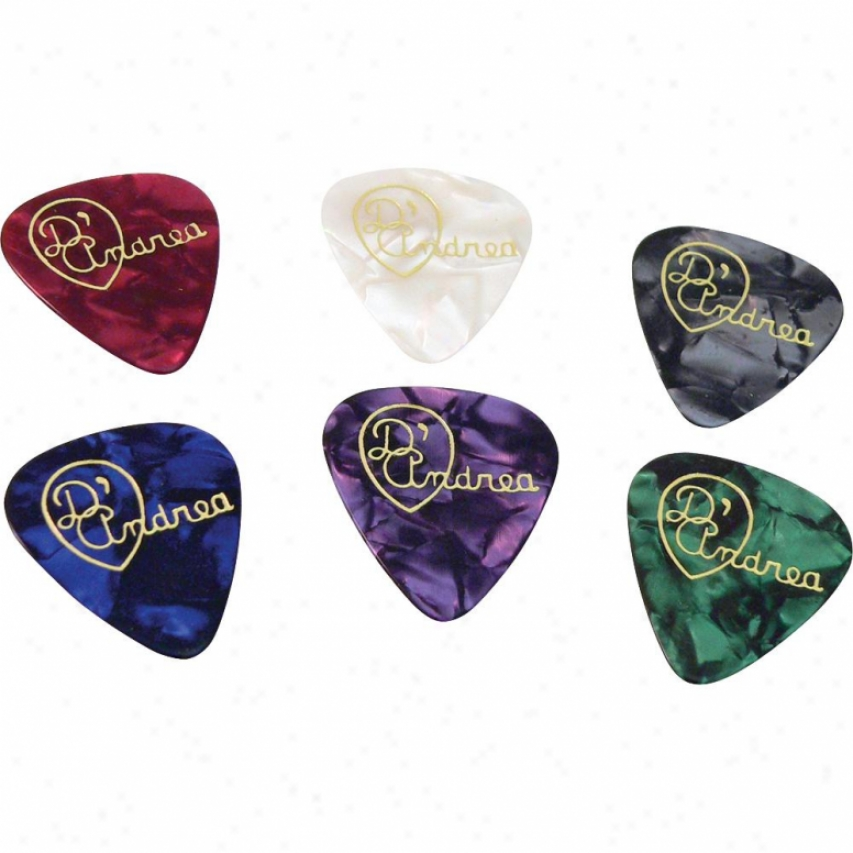 D'andrea Tnvdm Medium Designer Celluloid Guitar Picks - 12 Pack