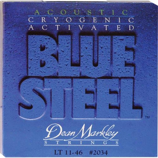 Dean Markley Dm2034 Blue Steel Light Acoustic Guitar Strings