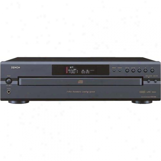 Denon Dcm390 5-disc Cd Changer Player