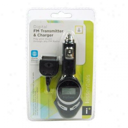 Digipower Solutions Car Charger W/ Fm Transmitter