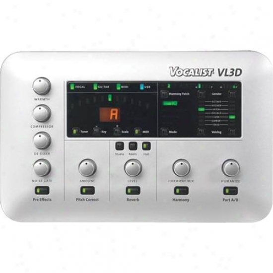 Digitech Vocalist Vl3d Vocal Harmony Effects Processor