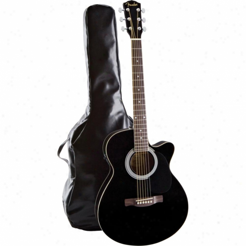 Display Model Of Femder® 095-0810-100 Fa-130 Acoustic /electric Black Rosewoo