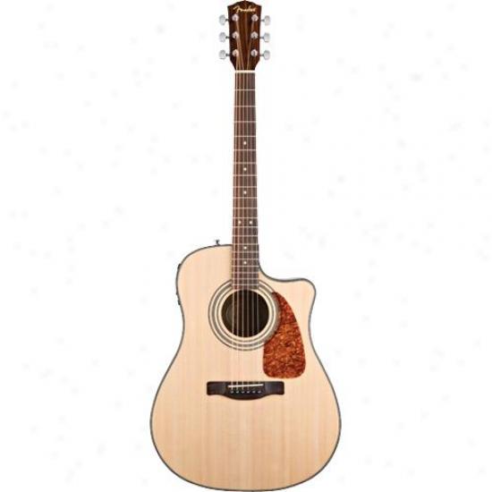 Display Model Of Fender® Cd280sce Dreadnought Cutaway Acoustic Guitar