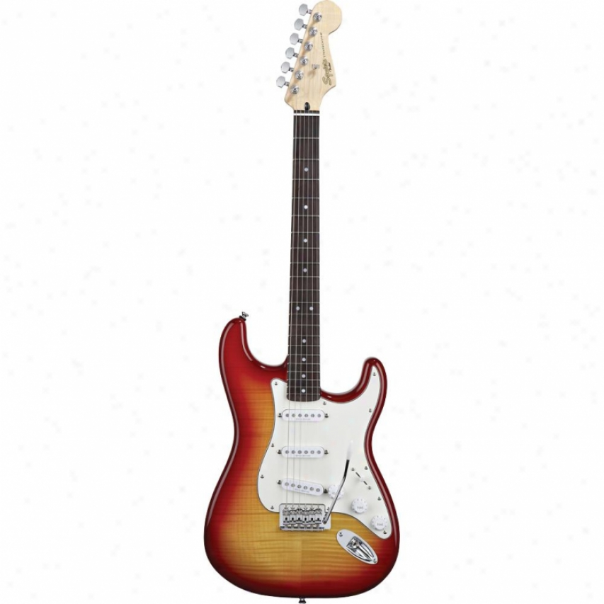Display Model Squier® Vintage Modified Strat Guitar - Cherry Sunburst Fmt