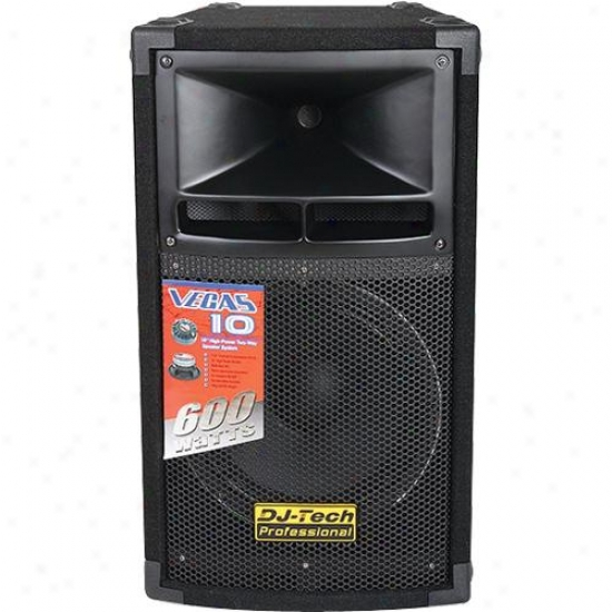 "Dj-tech 10"" 2-way 300 Watt Pa Loudspeaker Vegas10mkii"