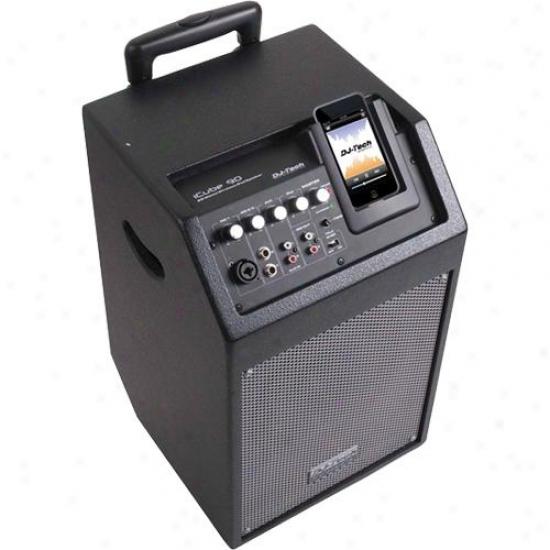 Dj-5ech Icube 90 Battery Powered 80-watt Pa System