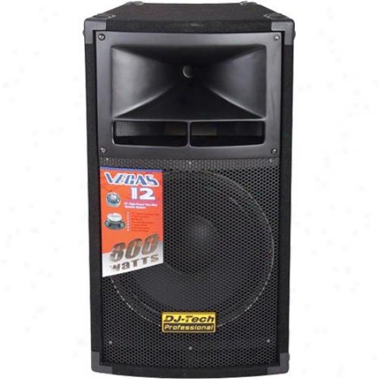 "Dj-tech Passive 12"" 2-way 400 Watt Loudspeaker Vegas12mkii"