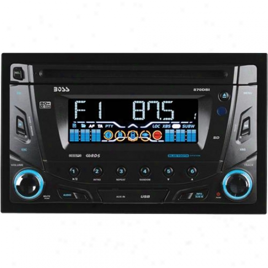 Double-din Bluetooth Enabled Mp3/cd Am/fm Receiver Usb/sd