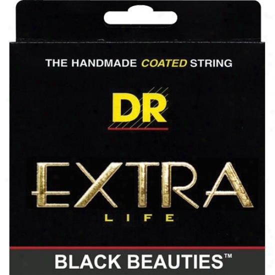 Dr Strings Bke10 Extra Life Black Beauties Coated Medium Electric Guitar Strings
