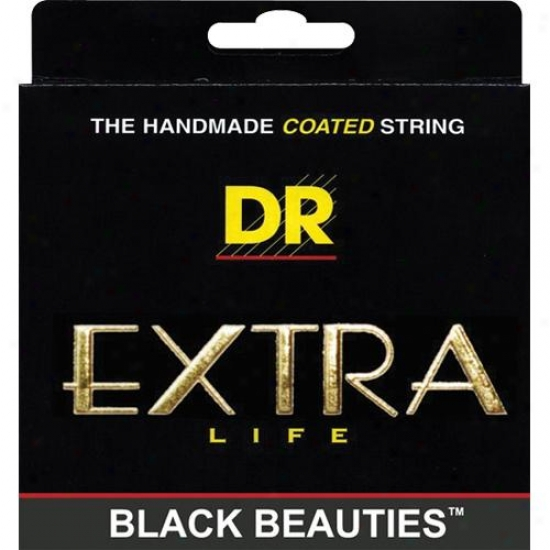 Dr Strings Bke9 Extrra Life Black Beautiful women Coated Lite Electric Guitar Strings