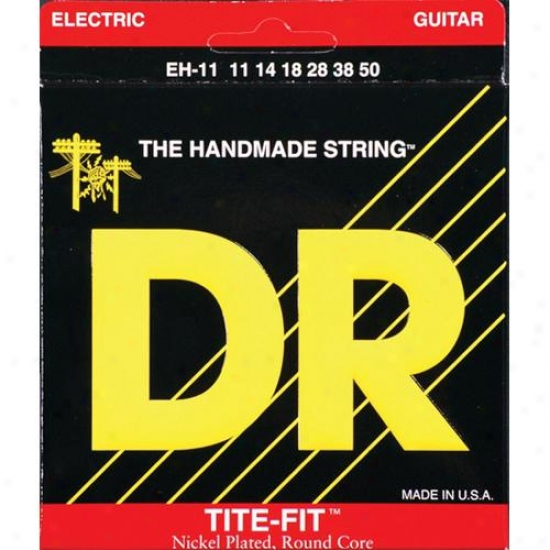 Dr Strings Eh11 Tite Fit Nickel Plated Extra Heavy Electric Guitar Strings