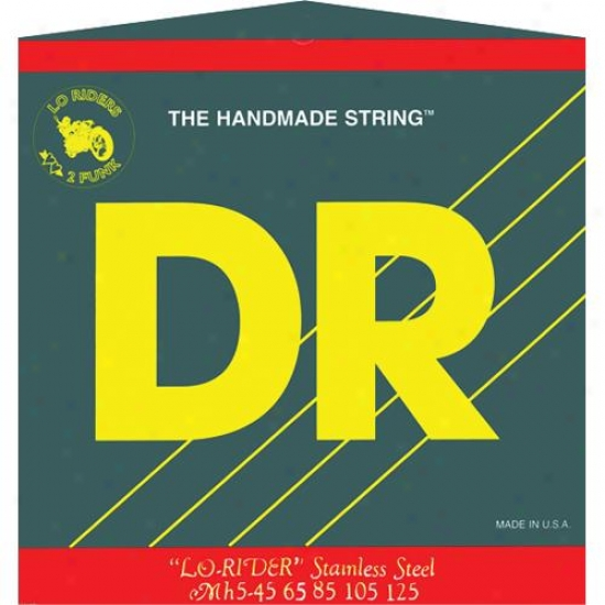 Dr Strings Mh545 Lo Rider Tite Fit 5 String Stainless Carburet of iron Middle Low Strings