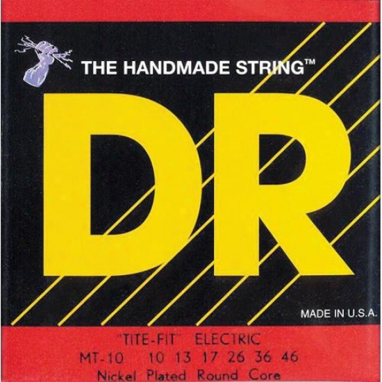 Dr Strings Mt10 Tite Fit Nickel Plated Electric Guitar Strings