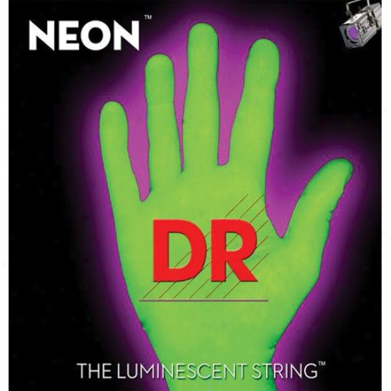 Dr Strings Neon Hidef Green 45-105 Bass Guitar Superstrings With K3 Coating