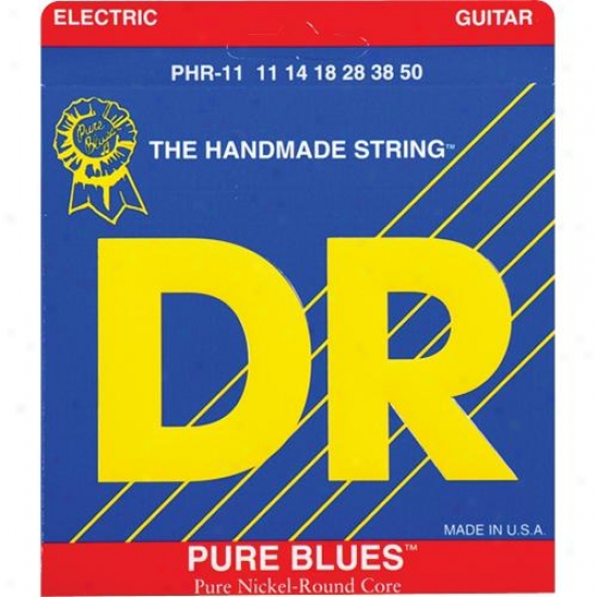 Dr Strings Phr11 Pure Blues Pure Nickel Heavy Electric Guitar Strings