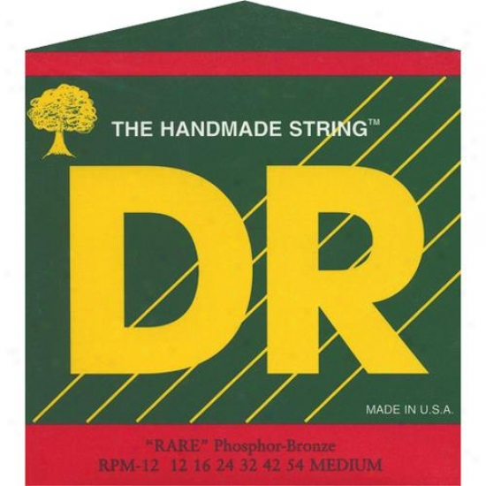 Dr Strings Rpm12 Rare Phosphor Bronze Medium Acoustic Guitar Strings